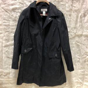 Mens M Orvis Black Trench Coat